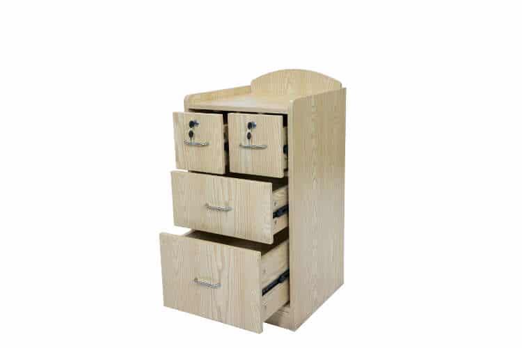 Bedside Cabinet With Lockable Drawers Cobalt Health