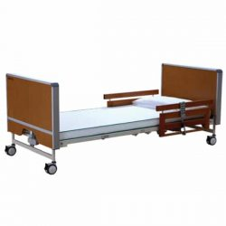 Mystic Self Folding Care Bed, beech, with mattress