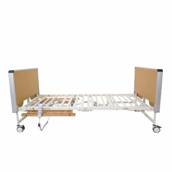 Mystic Self Folding Care Bed, beech, side view
